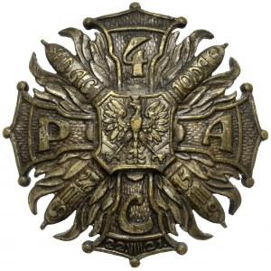 Odznaka, 4 Pułk Artylerii Ciężkiej