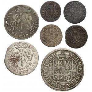 Prusy, od szeląga do orta 1625-1684, zestaw (7szt)