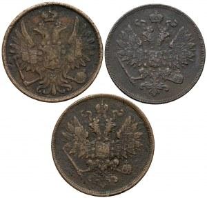 2 kopiejki 1859-1861, Warszawa - zestaw (3szt)
