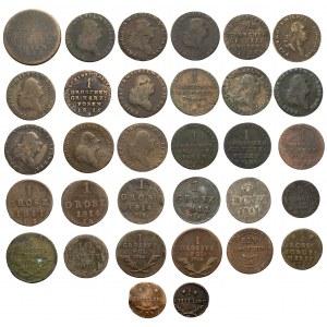 Zabory, zbiór monet srebrnych i miedzianych - zestaw (32szt)