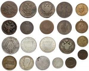 Rosja, Szwecja, Austria... mix monet (21szt)