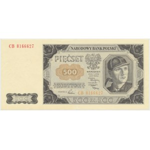 500 złotych 1948 - CB - wyblakły awers
