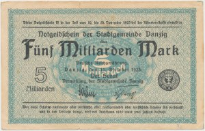 Gdańsk, 5 mld marek 1923
