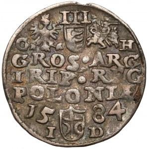 Stefan Batory, Trojak Olkusz 1584 - inicjały GH