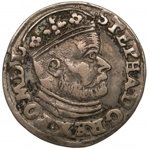 Stefan Batory, Trojak Olkusz 1585 GH - Hose - duża głowa
