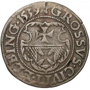 Zygmunt I Stary, Grosz Elbląg 1539 - miecz w lewo