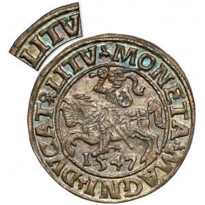 Zygmunt II August, Półgrosz Wilno 1547 - LITV - RZADKOŚĆ