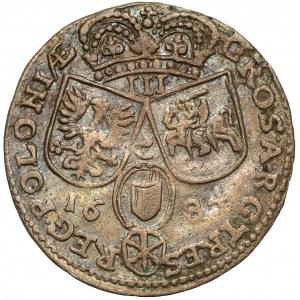 Jan III Sobieski, Trojak Kraków 1684-B - rzadki