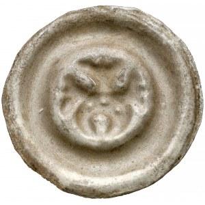 Śląsk, Brakteat szeroki - półksiężyc z motywem roślinnym
