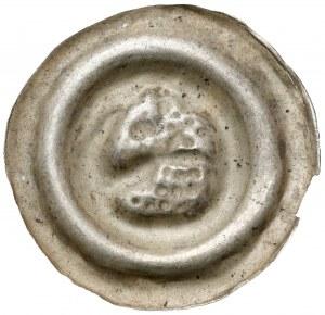 Śląsk, Brakteat szeroki - łeb konia w lewo