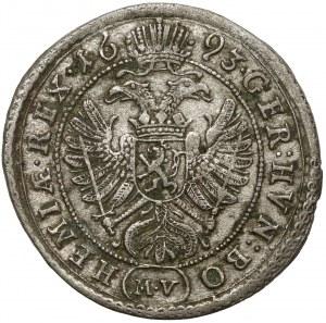 Austria, Leopold I, 3 krajcary 1695 MV, Praga