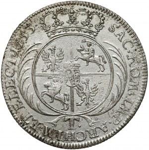 August III Sas, Tymf Lipsk 1753 - bez przekroju