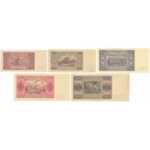 5 - 500 złotych 1948 (5szt)