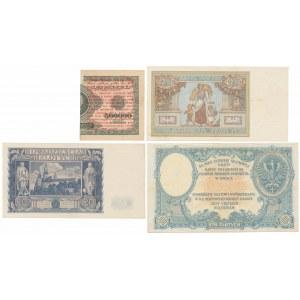 Zestaw banknotów polskich z lat 1919-1936 (4szt)