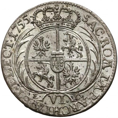 August III Sas, Szóstak Lipsk 1755 EC - piękny