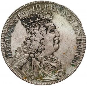 August III Sas, Tymf Lipsk 1753 - owalny, gładki