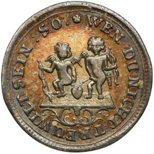 August II Mocny, Coseldukat bez daty - Par Complaisance - odbitka w srebrze
