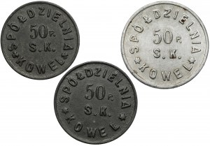 Kowel, 50. Pułk Piechoty Strzelców Kresowych, 20 groszy - 1 złoty (3szt)