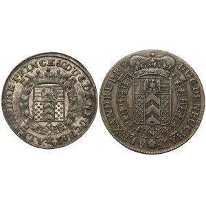 Szwajcaria, Neuchâtel, Alexandre Berthier, 1/2 i 1 batzen 1807 i 1810 (2szt)