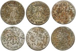 Brandenburg-Preussen, Friedrich Wilhelm, 6-Gröscher 1681-1684 - lot (6 Stücke)