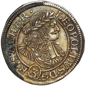 Śląsk, Leopold I, 3 krajcary 1675 FIK, Opole