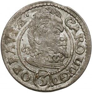 Śląsk, Karol von Liechtenstein, 3 krajcary 1615 BH, Opawa