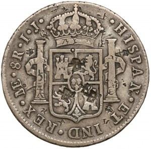 Peru, Karol IV Hiszpański, 8 reali 1792-IJ - kontramarkowana