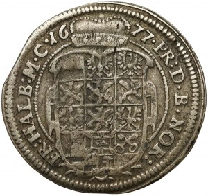Brandenburg-Ansbach, John Frederick, 1/6 Taler 1677