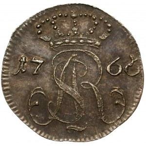 Poniatowski, Szeląg Gdańsk 1766 FLS - PIĘKNY