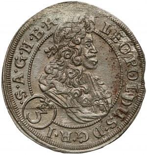 Śląsk, Leopold I, 3 krajcary 1699 FN, Opole