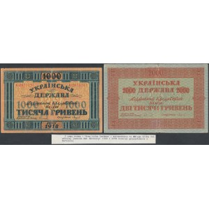 Ukraine, 1.000 and 2.000 Hryven 1918 - (2 pcs)