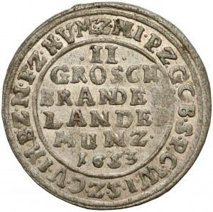 Brandenburg-Preussen, Friedrich Wilhelm, 2 Groschen 1653