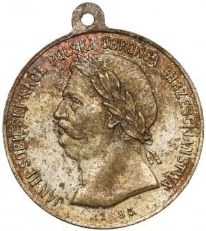 Medalik, Jan III Sobieski Król Polski Obrońca Chrześcijaństwa 1883