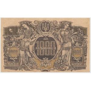 Ukraine, 1.000 Karbovanets (1918) - AB - wavy lines in watermark