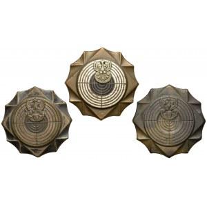 Państwowe Odznaki Strzeleckie - zestaw (3szt)