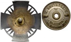 Odznaka 25 Pułk Piechoty - wersja oficerska