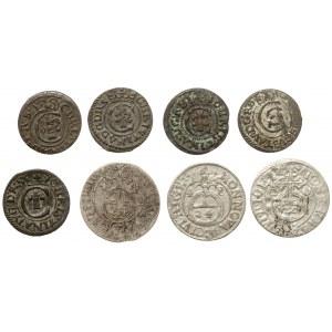 Zygmunt III, Szwedzka okupacja Rygi, Szelągi i półtoraki 1620-53, zestaw (8szt)