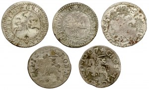 Grosze Zygmunta III Wazy - wczesna Litwa (5szt)