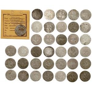 Półtoraki Zygmunta III Wazy - 1616-1627 - duży zestaw (37szt)