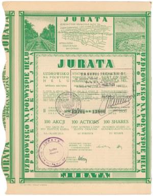 JURATA Uzdrowisko na Półwyspie Helu, Em.2, 100x 100 zł 1937