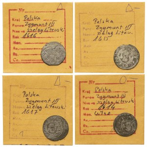 Szelągi litewskie Zygmunta III - zestaw (4szt)