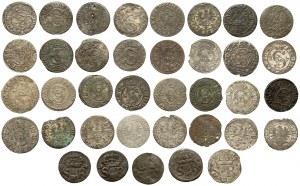 Szelągi z różnych mennic Zygmunta III - zestaw (37szt)
