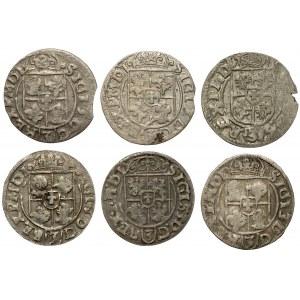 Półtoraki Zygmunta III Wazy - 1615-1619 (6szt)