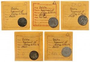 Szelągi litewskie Zygmunta III - zestaw (5szt)