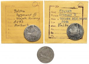 Trojaki malborskie Zygmunta III - zestaw (3szt)
