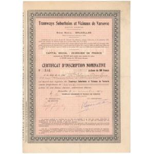 Tramwaje Warszawskie - Świadectwo Tymczasowe 1929