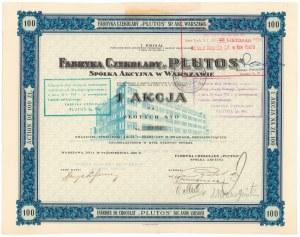 Fabryka Czekolady PLUTOS, Em.1, 100 zł 1926