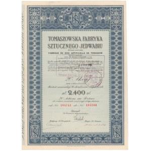Tomaszowska Fabryka Sztucznego Jedwabiu, 20x 120 zł