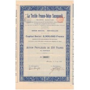 La Textile Franco-Belge Szczepanik, 250 francs 1900