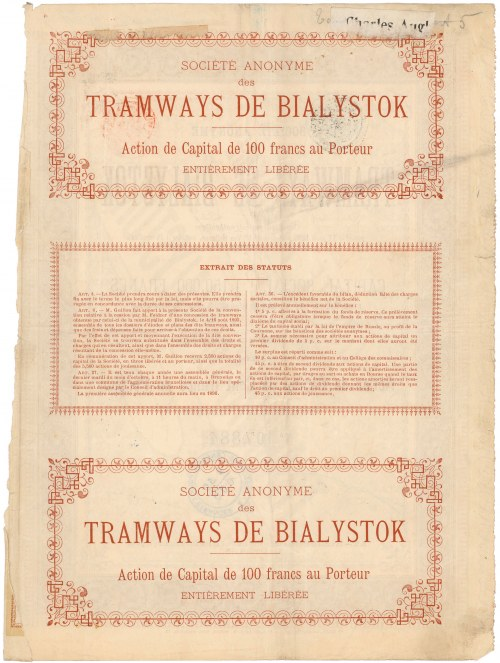 Białystok Tramwaje, 100 franków
